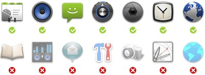 Android launch icons Do and Don'ts
