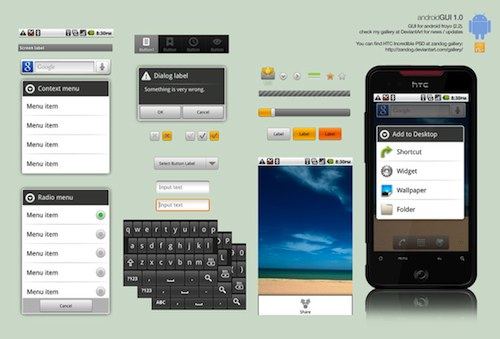 Android 2.2 GUI by thiago silva