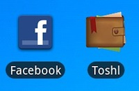 Android ikone - Facebook in Toshl