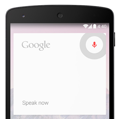 Google Now voice
