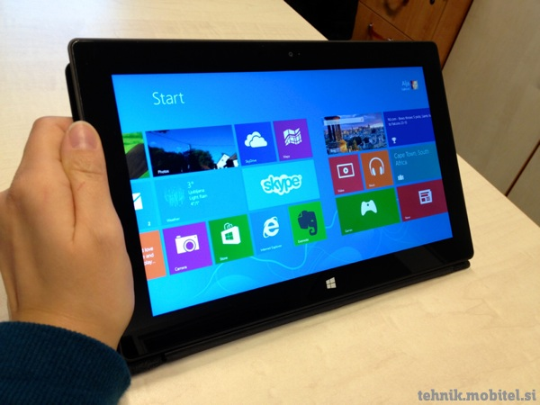 Tablica Microsoft Surface RT v roki