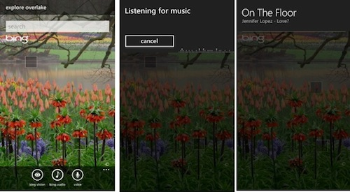 Bing Audio WP7 Mango
